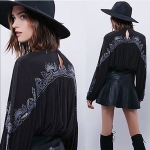 Free People Sweet Fantasy Embroidered Blouse